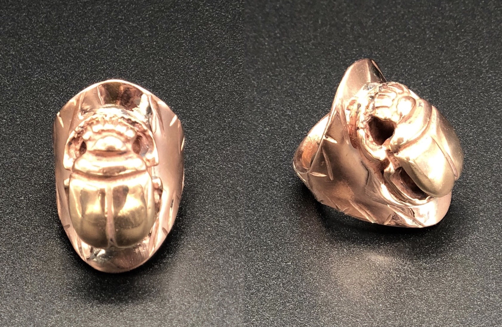 Brass Scarab Cooper Band Ring