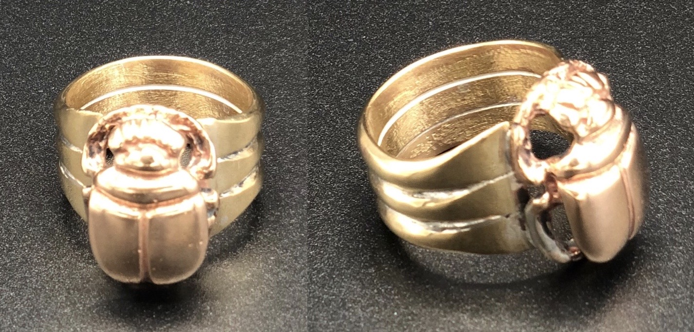 Cooper Scarab and Brass Band Ring