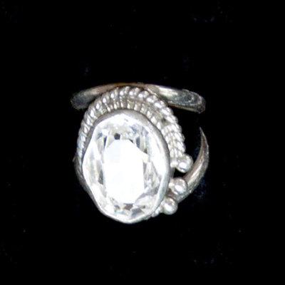 Clear Swarovski Crystal Ring